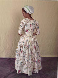 Glazed Chintz Gown Full Back