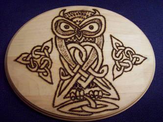 celtic owl by Thorbjorg