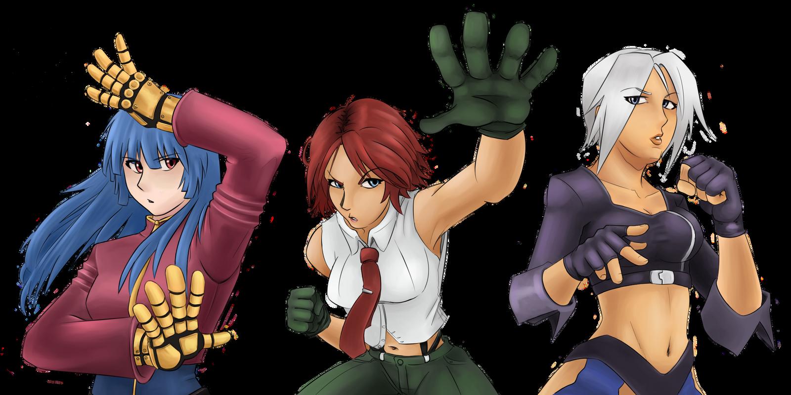 Kof Clark Dibujo Deviantart: The King Of Fighters Best Team By SatyHarvenheit On DeviantArt