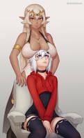 Iliana and Luna by Unsomnus