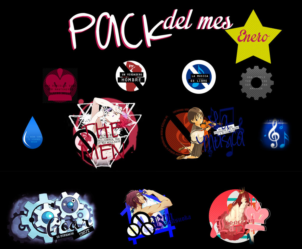 Pack Del Mes-enero by freeyaonoexorcist