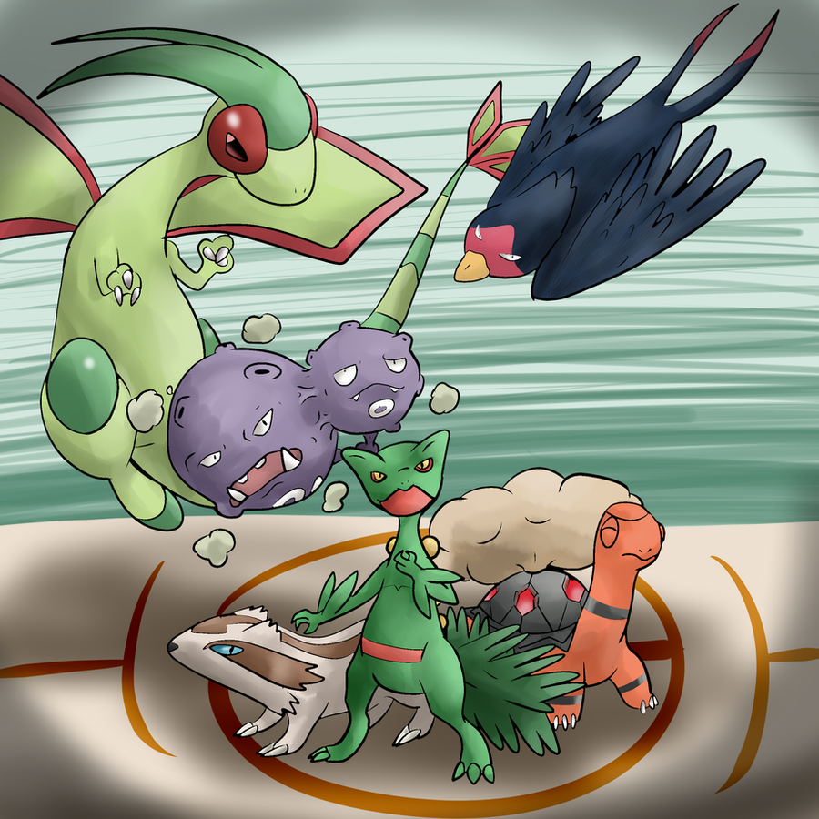 My Pokemon Emerald Team by CleverConflict