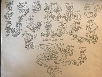 Mermay 2019: More Characters as Merfolk by RowserlotStudios1993