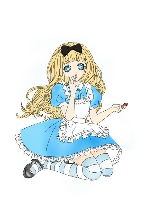 Alice in wonderland with cookie by KawaiiHimeSama on ...