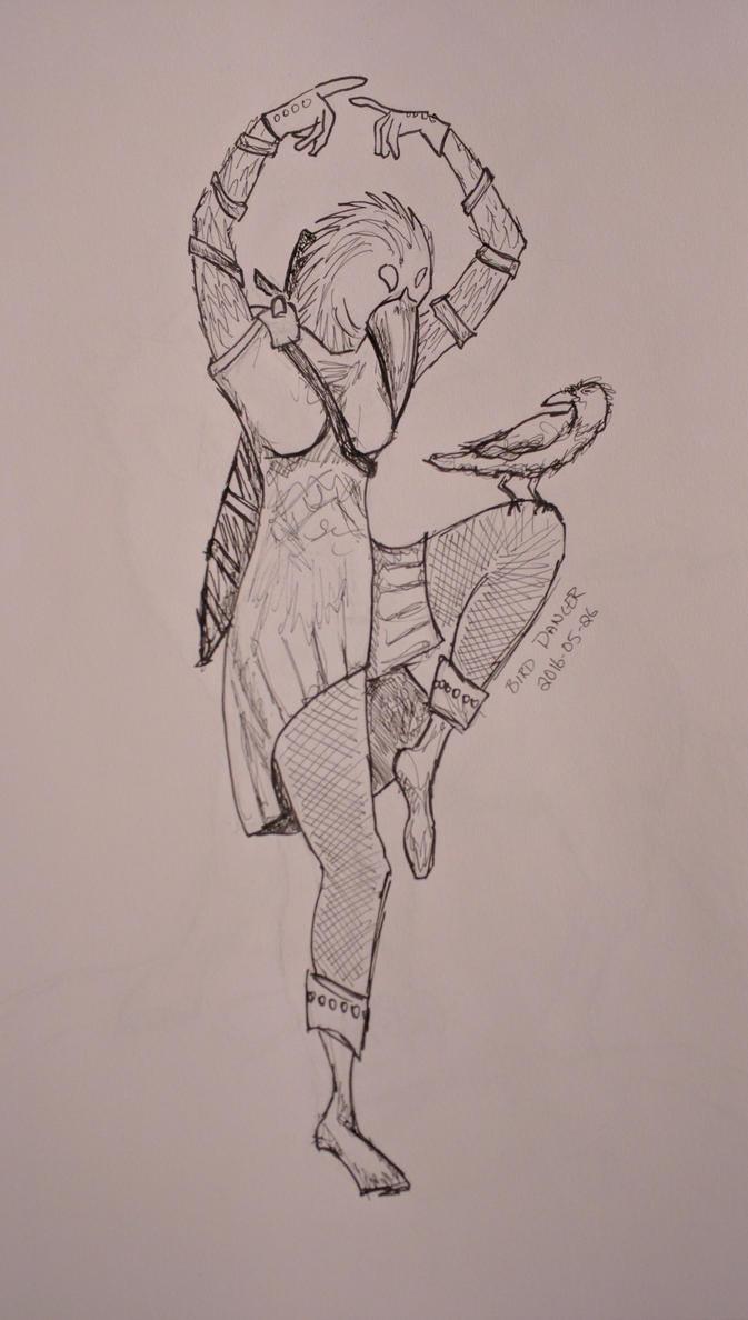 Dancing Bird Lady by FallenIshmayl
