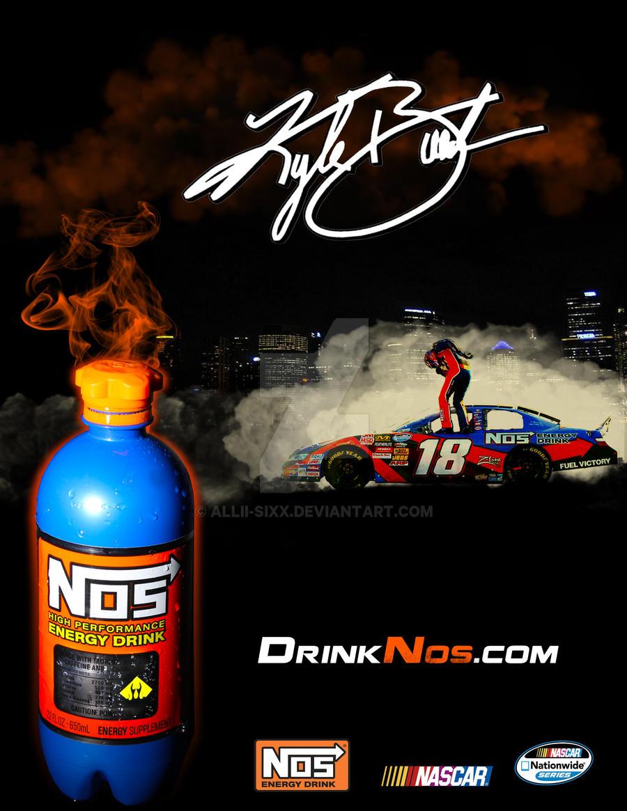 Kyle Busch NOS Energy Drink Ad by Allii-Sixx on DeviantArt