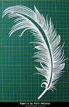 Papercut Art #27 - Feather by ParthKothekar
