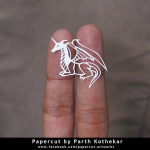 miniature papercut - Dragon