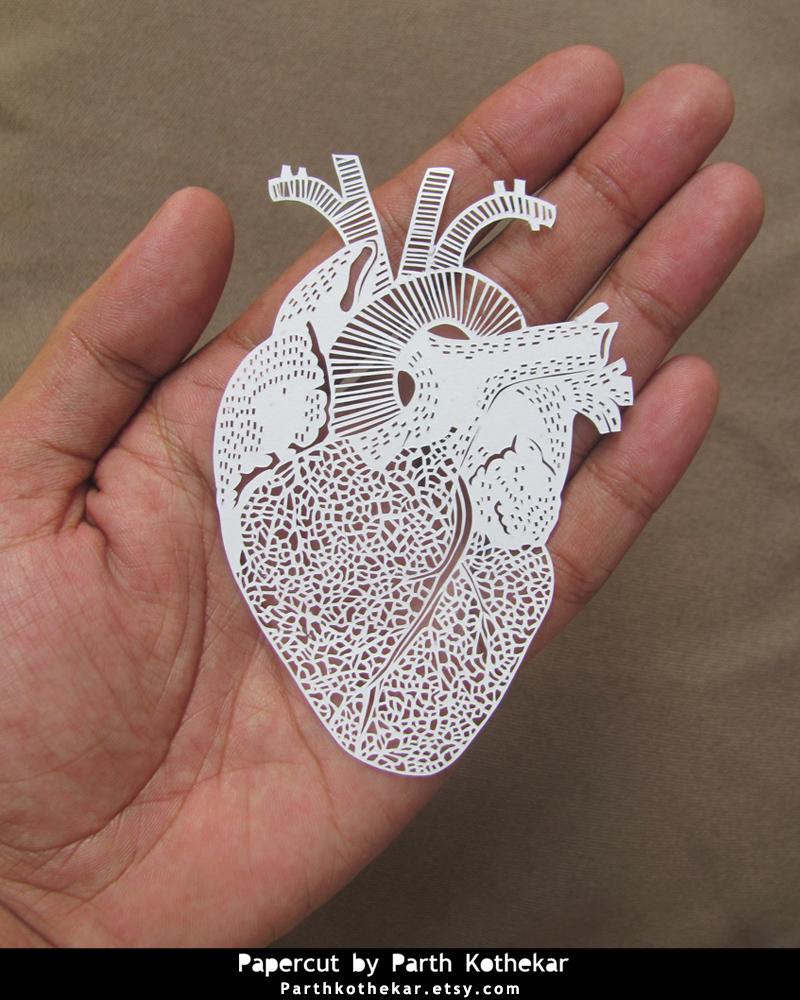 Intricate Papercut - Heart by ParthKothekar