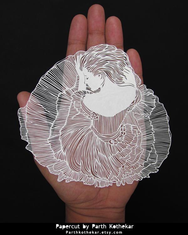 Miniature Papercut - Papercutting - Paper art