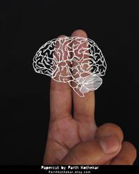Papercut - Brain - Papercutting - Paper art by ParthKothekar
