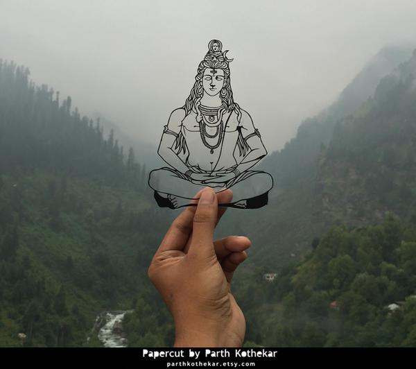 Papercut  - Shiv - God - Manali - Himachal Pradesh by ParthKothekar