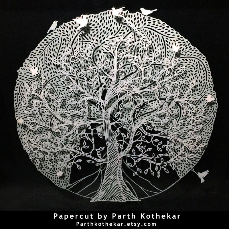 Papercut - layers - Papercutting - Paper art by ParthKothekar