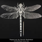 Papercut - Dragonfly - Papercutting - Paper - Art