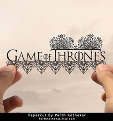 Papercut - Game of Thrones - Got - Logo - Art by ParthKothekar