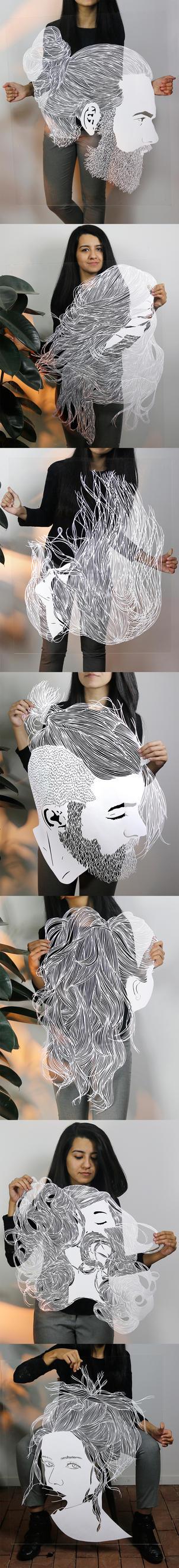 Papercut - Papercutting - Hair - Parthkothekar by ParthKothekar