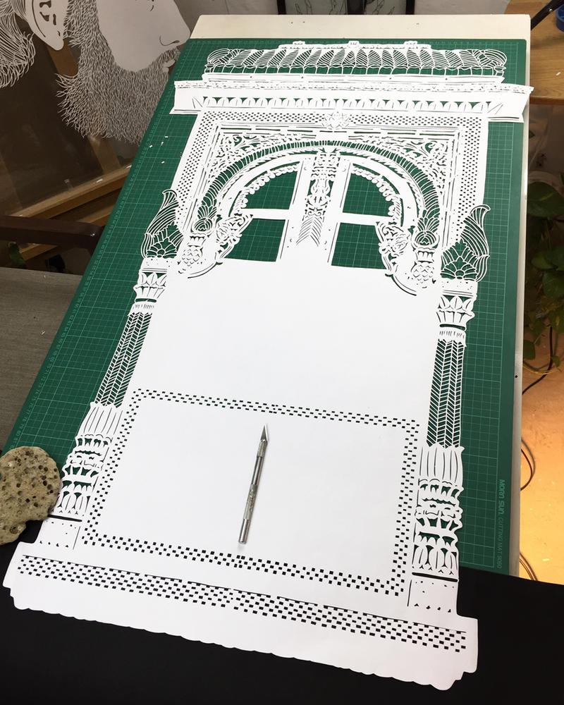 Wip - Papercut - Papercutting - India - Art by ParthKothekar