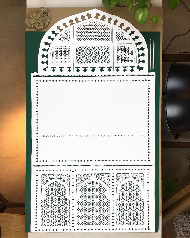 jharokha - Papercut - Papercutting - India - jaali by ParthKothekar