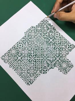 Moroccan tile Papercutting art Papercuts pattern