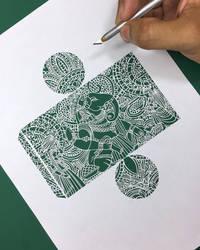 Lord Ganesha Papercutting Art Hindu God Ganpati