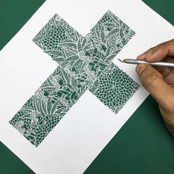 Nature Papercutting art Papercuts pattern 3d paper