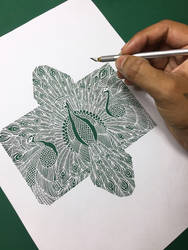 peacock Papercutting art Papercuts peafowl paper