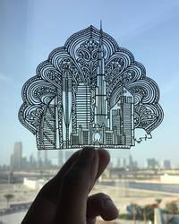 Dubai Papercut Burj Khalifa Papercutting Art Craft