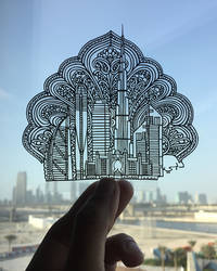 Dubai Papercut Burj Khalifa Papercutting Art Craft