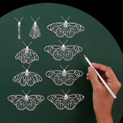 Butterfly Paper Cutting Animation Paper Art Design