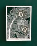 Peacock Feather Paper Cutting Art Hand Cut Design