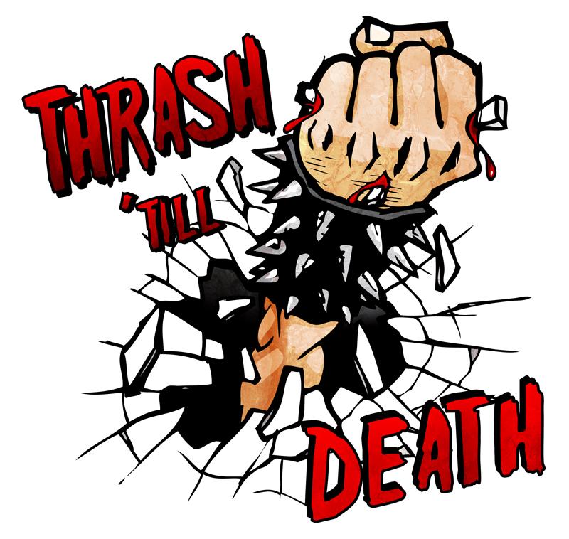 thrash till death by maniacsoul on deviantart rh maniacsoul deviantart com 70s Rock Bands Logos Metal Band Logos Ideas