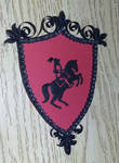 Quilled Knight Shield Wall Art by quillingbug