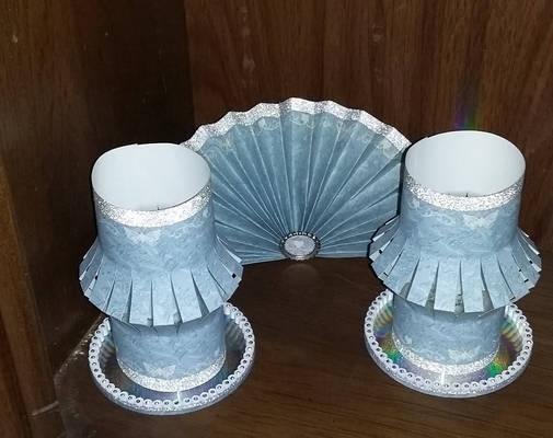 Butterfly Paper Fan And Lantern Set