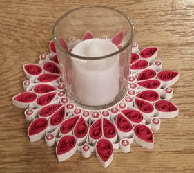 Quilled Heart Votive Candle Holder
