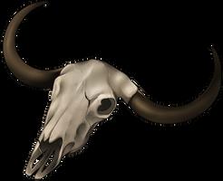 Skull - Yak by momma-kuku