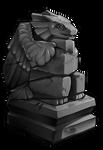 Ancient Kukuri statue (Aerial) by momma-kuku