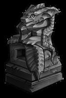 Ancient Kukuri statue (Aquatic) by momma-kuku