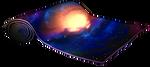 Exotic galaxy rug by momma-kuku