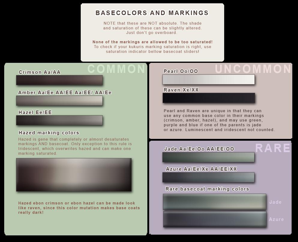 Basecolors and Markings   Hazed sliders by momma-kuku