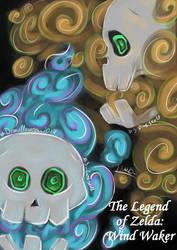 {Dralloween} day3~ SKULL~ fire-curse skulls TLOZ