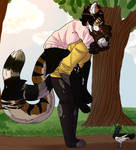 Park-walk -Commission- by JeeSharon