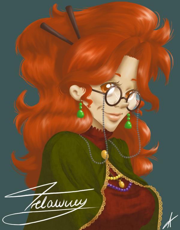 Sybill Trelawney by Adrollity