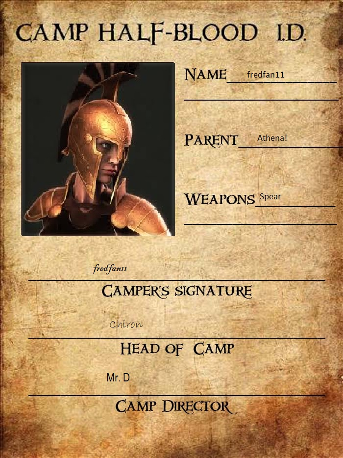 Camp Halfblood ID Card by fredfan11