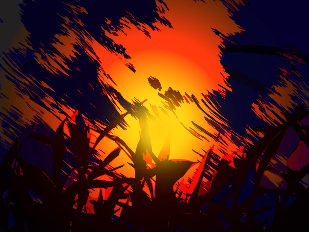 Scratched Sunrise by SwordSaint32