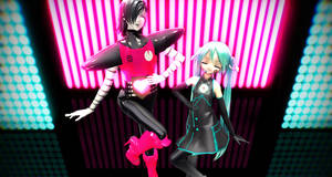 [MMD x Undertale] Showtime, Darling~ by LernkyPanda