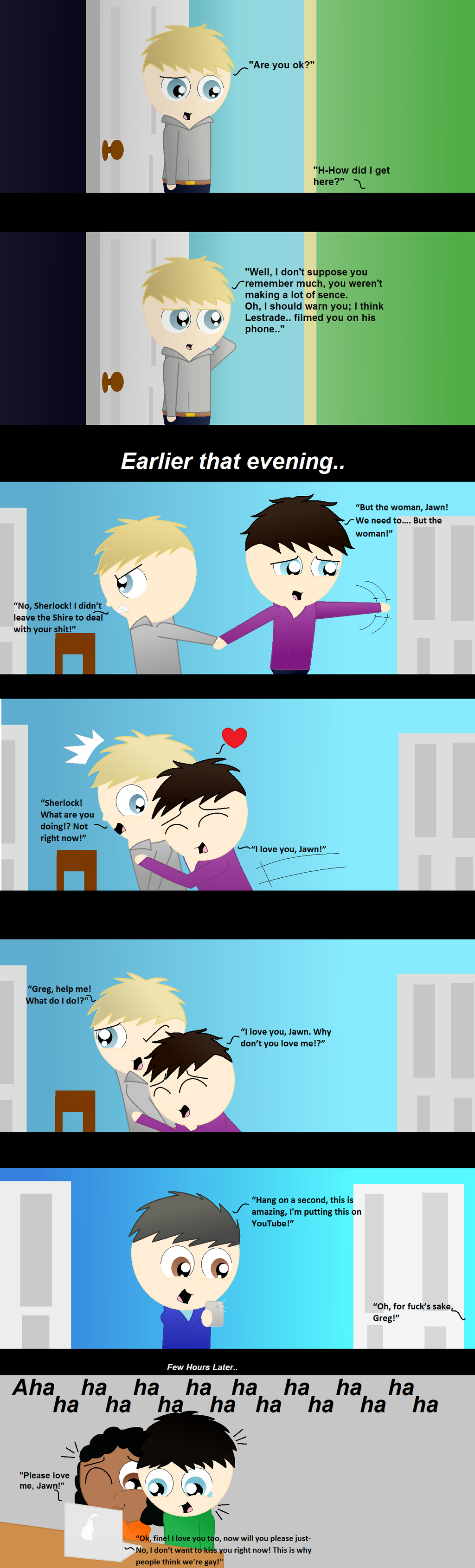 Sherlock - ''This is why people think we're gay!'' by Dragonsong3