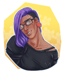 Nyx with glasses
