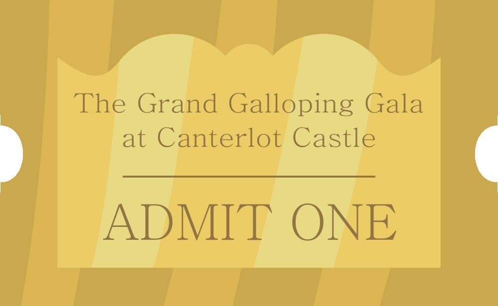 Grand Galloping Gala Ticket by noxwyll
