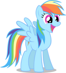 Rainbow Dash Smiling