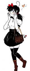 :Inktober: Cute Bridgette by blackmoongirl